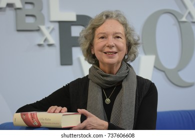 Frankfurt, Germany. 14th Oct, 2017. Ulla Hahn (* 1946), german writer, Frankfurt Bookfair / Buchmesse Frankfurt 2017