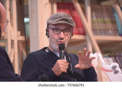 Frankfurt, Germany. 14th Oct, 2017. Jean-Yves Ferri (*1959), comic book writer - Asterix - at Frankfurt Bookfair / Buchmesse Frankfurt 2017
