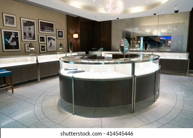 FRANKFURT, GERMANY - APRIL 07, 2016: Tiffany's store at Frankfurt Airport. Tiffany & Company is an American worldwide luxury jewelry and specialty retailer, headquartered in New York City