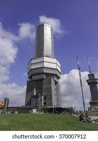 Frankfurt, Germany - April 14, 2014: Radio-tower at the Feldberg in Hesse