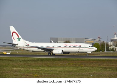 FRANKFURT, GERMANY - APRIL, 23. A Boeing 737-800 of royal air maroc takes off at Frankfurt International Airport (Germany, FRA) on April 23, 2015.