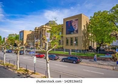 FRANKFURT, GERMANY - April 25, 2019: View of the Stadel Museum (Städelsches Kunstinstitut und Städtische Galerie) located in Frankfurt, Germany.