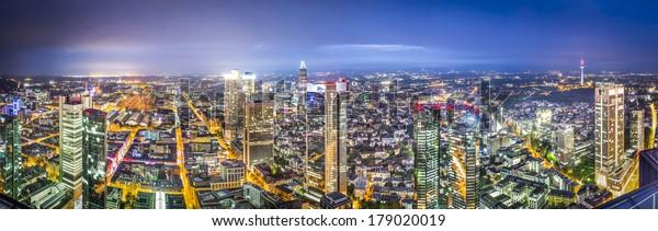 Frankfurt, Germany city skyline.
