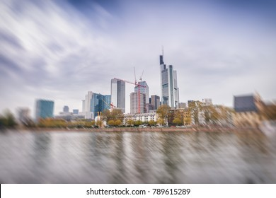 Frankfurt, Germany. City skyline on a cloudy day.