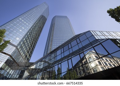 frankfurt germany cityscape in the summer