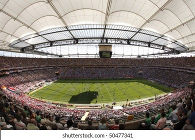 FRANKFURT, GERMANY - JUNE 10:  General stadium view prior to a World Cup soccer match between England and Paraguay June 10, 2006 in Frankfurt, Germany.