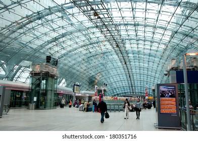 FRANKFURT, GERMANY - JUNE 27: Inside of Frankfurt Pearson Airport on JUNE 27, 2013 in Frankfurt. In 2012, Frankfurt handled 57.5 million passengers.