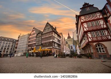 Frankfurt, Germany - March 17 , 2018 -Historic Roamer in Frankfurt am Main , Germany