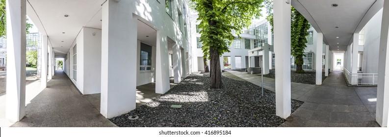FRANKFURT, GERMANY - MAY 7, 2016: Museum of Applied Art  in Frankfurt at schaumainkai area.