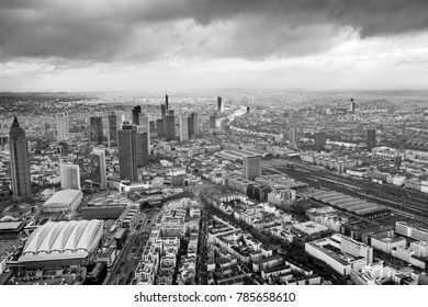 FRANKFURT, GERMANY - NOV 19, 2017: skyline of Frankfurt an Main in spectacular light
