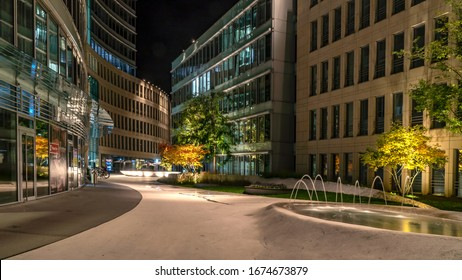 FRANKFURT, GERMANY - OCTOBER 05th, 2019: modern architecture complex in the heart of Frankfurt called the Wave. It was built in 2007 and covers the area of the former Metalgesellschaft.
