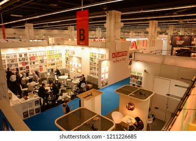 FRANKFURT, GERMANY - OCTOBER 12: Frankfurt Book Fair on October 12, 2018 in Frankfurt, Germany.