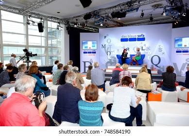 FRANKFURT, GERMANY - OCTOBER 12: Frankfurt Book Fair on October 12, 2017 in Frankfurt, Germany.
