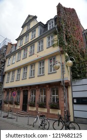 Frankfurt, Germany - October 27, 2018: Goethe House, Frankfurt, Germany, Europe
