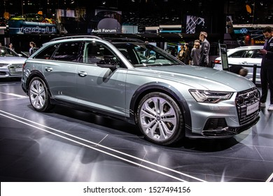 Frankfurt, Germany, Sep 10, 2019: Audi A6 Allroad quattro station wagon at IAA, fifth generation A6, C8, Typ 4K, combi produced by Audi AG