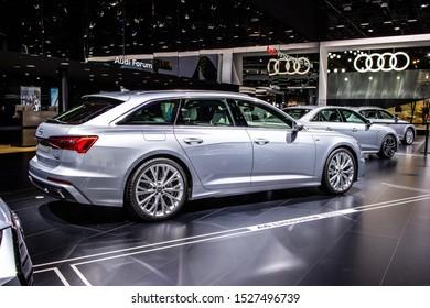 Frankfurt, Germany, Sep 10, 2019: Audi A6 Avant 50 TDI quattro station wagon at IAA, fifth generation A6, C8, Typ 4K, combi produced by Audi AG