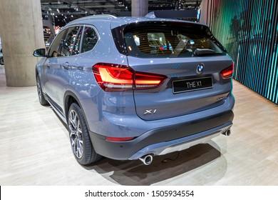 FRANKFURT, GERMANY - SEP 11, 2019: New 2020 BMW X1 car showcased at the Frankfurt IAA Motor Show 2019.