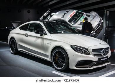 Frankfurt, Germany, SEP 12-24, 2017: Mercedes-Benz Mercedes-AMG C 63 S Coupe at 67th International Motor Show (IAA