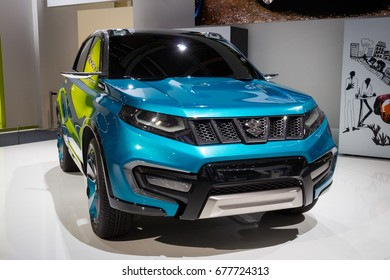 FRANKFURT, GERMANY - SEP 13, 2013: Suzuki iV-4 concept car at the Frankfurt IAA Motor Show.