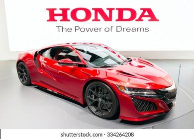 FRANKFURT, GERMANY - SEP 16, 2015: Honda NSX shown at the IAA 2015.