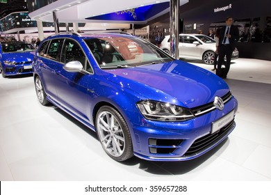 FRANKFURT, GERMANY - SEP 16, 2015: Volkswagen Golf R Variant at the IAA 2015.