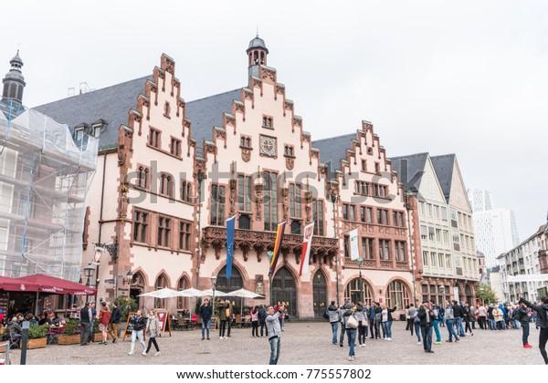 Weihnachtsmarkt Frankfurt Main.Frankfurt Germany Sep 17 2017 Frankfurt Stock Photo Edit Now 775557802