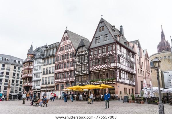 Weihnachtsmarkt Frankfurt Main.Frankfurt Germany Sep 17 2017 Frankfurt Stock Photo Edit Now 775557805