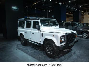 FRANKFURT, GERMANY - SEPTEMBER 11, 2013: Frankfurt international motor show (IAA) 2013. Land Rover Defender