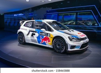 FRANKFURT, GERMANY - SEPTEMBER 11: Frankfurt international motor show (IAA) 2013.  Volkswagen WRC racing car