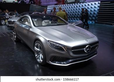 FRANKFURT, GERMANY - SEPTEMBER 11: Frankfurt international motor show (IAA) 2013. Mercedes S Class Coupe Concept