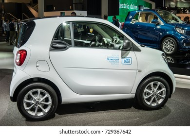 Frankfurt, Germany, September 12, 2017: Mercedes-Benz Smart fortwo CAR2GO at 67th International Motor Show (IAA)