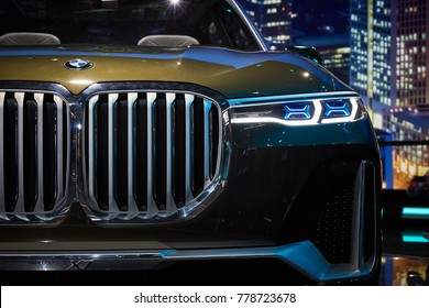 Frankfurt, Germany - September 12, 2017:  2017 BMW X7 Concept presented on the 67-th Frankfurt International Motor Show(IAA) in the Messe Frankfurt