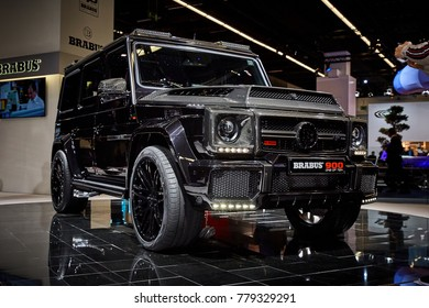 Frankfurt, Germany - September 12, 2017: 2017 Mercedes-Benz G900 by Brabus presented on the 67-th Frankfurt International Motor Show(IAA) in the Messe Frankfurt