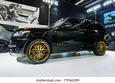Frankfurt, Germany - September 12, 2017: 2017 Range Rover WideBody by Startech presented on the 67-th Frankfurt International Motor Show(IAA) in the Messe Frankfurt