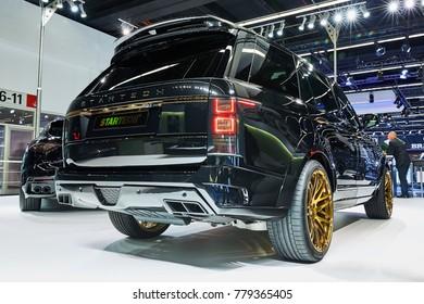 Frankfurt, Germany - September 12, 2017: 2017 Range Rover WideBody by Startech presented on the 67-th Frankfurt International Motor Show(IAA) in the Messe Frankfurt