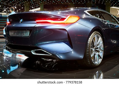 Frankfurt, Germany - September 12, 2017: 2017 BMW 8-Series Concept presented on the 67-th Frankfurt International Motor Show(IAA) in the Messe Frankfurt