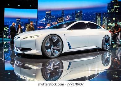 Frankfurt, Germany - September 12, 2017: 2017 BMW i Vision Dynamics Concept presented on the 67-th Frankfurt International Motor Show(IAA) in the Messe Frankfurt