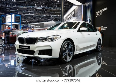 Frankfurt, Germany - September 12, 2017: 2017 BMW 6-Series GT presented on the 67-th Frankfurt International Motor Show(IAA) in the Messe Frankfurt