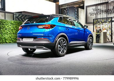 Frankfurt, Germany - September 12, 2017: 2018 Opel Grandland X presented on the 67-th Frankfurt International Motor Show(IAA) in the Messe Frankfurt
