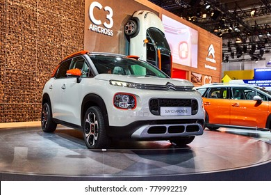 Frankfurt, Germany - September 12, 2017: 2017 Citroen C3 AirCross presented on the 67-th Frankfurt International Motor Show(IAA) in the Messe Frankfurt