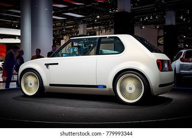 Frankfurt, Germany - September 12, 2017: 2017 Honda Urban EV Concept presented on the 67-th Frankfurt International Motor Show(IAA) in the Messe Frankfurt