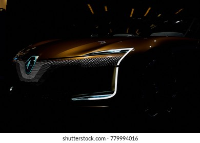 Frankfurt, Germany - September 12, 2017: 2017 Renault Symbioz Concept presented on the 67-th Frankfurt International Motor Show(IAA) in the Messe Frankfurt