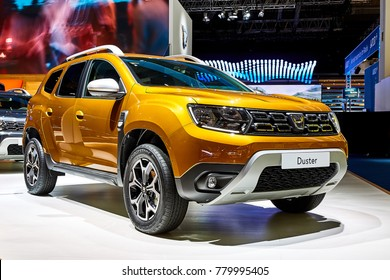 Frankfurt, Germany - September 12, 2017: 2018 Dacia Duster presented on the 67-th Frankfurt International Motor Show(IAA) in the Messe Frankfurt