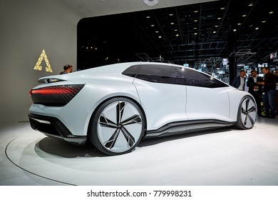 Frankfurt, Germany - September 12, 2017:  presented on the 67-th Frankfurt International Motor Show(IAA) in the Messe Frankfurt