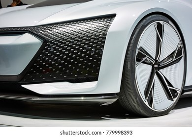 Frankfurt, Germany - September 12, 2017: 2017 Audi Aicon Concept presented on the 67-th Frankfurt International Motor Show(IAA) in the Messe Frankfurt