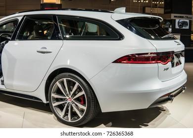 Frankfurt, Germany, September 13, 2017: Jaguar XF SPORTBRAKE at 67th International Motor Show (IAA)