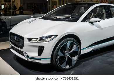 Frankfurt, Germany, September 13, 2017: Jaguar I-PACE CONCEPT at 67th International Motor Show (IAA)