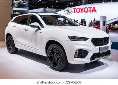 Frankfurt, Germany, September 13, 2017: chinese Great Wall Motors new luxury brand WEY VV7s at 67th International Motor Show (IAA), white