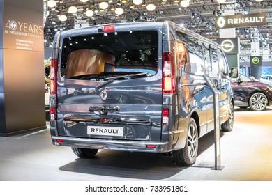 Frankfurt, Germany, September 13, 2017: Renault Trafic Combi at 67th International Motor Show (IAA)