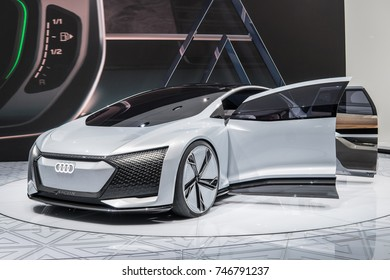 Frankfurt, Germany, September 13, 2017: Audi AICON concept car – highly automated for the future at 67th International Motor Show (IAA)